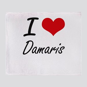 I Love Damaris artistic design Throw Blanket